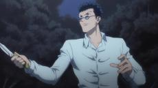 Leorio episode 16 facing Hisoka