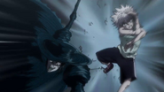 Palm attacks Killua