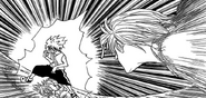 Pouf's clone faces off Killua