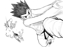 Chap 193 - Gon using Scissors to bisect Centipede