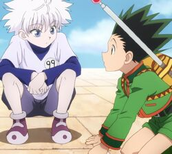 Gon and killua discover a trap door