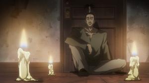 Nobunaga watching Gon and Killua