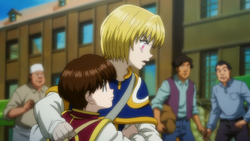 Pairo trying to stop Kurapika