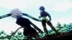 91 - Meruem attacks Pitou