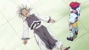 Bodoro derrotado por Hisoka