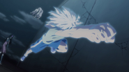 Killua destroying Pouf's clone