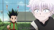 Killua is humble
