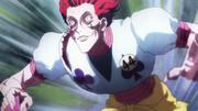 Hisoka preparado para luchar