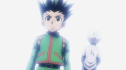 Gon bids farewell to Killua