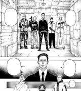 Chap 379 - Ken'i confronting three Phantom Troupe members