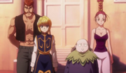 Kurapika y los demas salen de la mansion