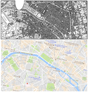 Yorknew City-Paris map comparison