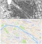 Yorknew City-Paris map comparison