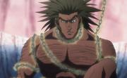Uvogin es atrapado por las cadenas de Kurapika