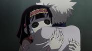 Killua hugging Nanika