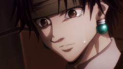 Chrollo cries after reading his prophecy