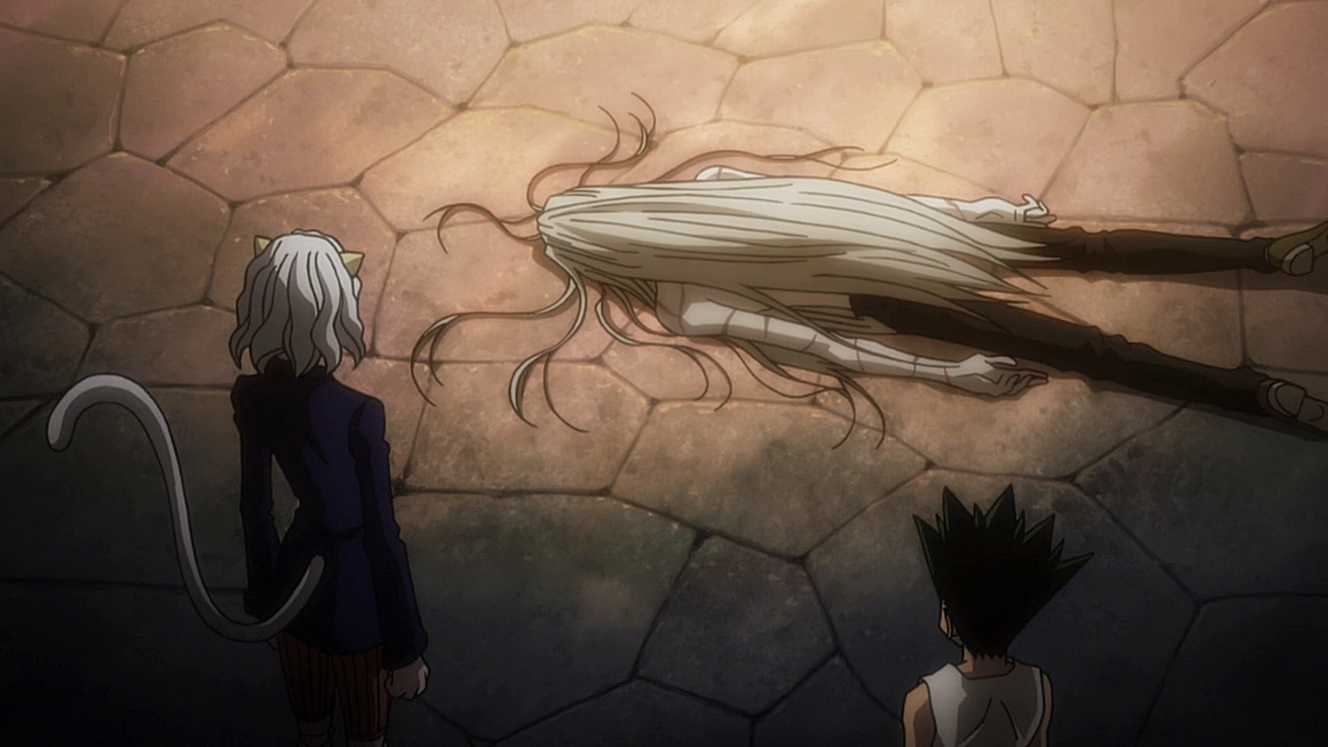 Berkas:130 - Pitou and Gon find a dead Kite.png