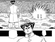 Chap 206 - Gon and Killua approaching Knuckle
