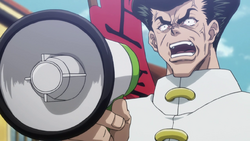 Knuckle with a megaphone