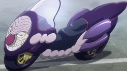 Tsubone transforming into motorcycle