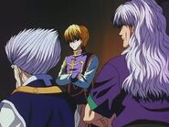 Kurapika with Silva and Zeno