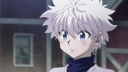 Killua blushing