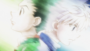 Gon and Killua's farewell