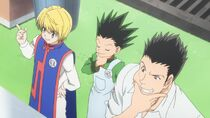 Kurapika, Gon, and Leorio cooking test
