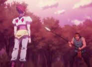 Gozu fighting Hisoka
