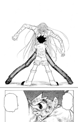 Chap 222 - Gon embracing Kite and apologizing