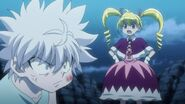 Biscuit slaps Killua