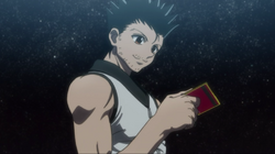 Ging receives his Hunter License