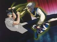 Zeno punching Chrollo