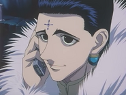 Chrollo receive a call from Uvogin and the other Phantom Troup