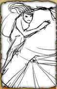 Fan Dancer (Rough Sketch)