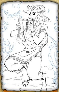Image Pan Pencil Sketch Jpg Huntik Wiki Fandom