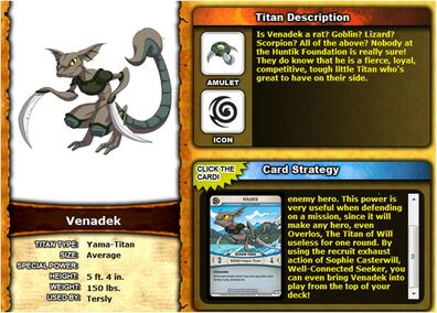 Huntik.com Profile - Venadek