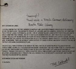 Letter to Dr Jones