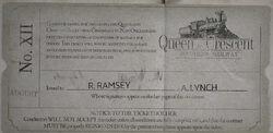 Queen Crescent Ticket