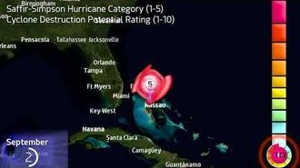 The track of Hurricane Dorian
