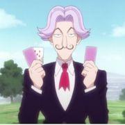 Satotz pega todas as cartas aprimoradas com Nen de Hisoka sem muitas dificuldades.