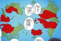 Localização dos países do V6 no mapa mundial