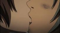 Muneakira and Sen kiss