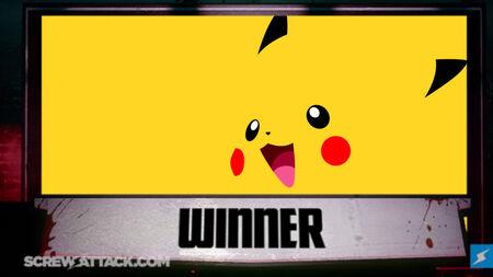 Pikachu wins