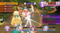 Battle with nepgear