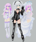 Mmp purple sister black heart an wedding sister by xcolourz-d5wydlq