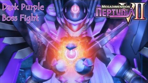 Dark Purple Boss Fight 💖Megadimension Neptunia VII💜 English, Full 1080p HD