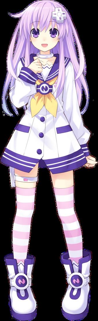 Hyperdimension Neptunia Mk2 Nepgear Purple Sister Cosplay Costume