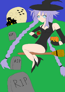 Neptunia halloween 2012 by gsome94-d5hsaau