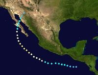 Hurricane Beatriz (2017 - Track)